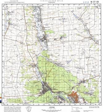 Карта M-37-101 Кременная северное направление
