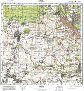 Карта M-37-113 кременная южное направление