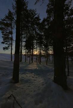 Восход луны.Первый лунный бриз