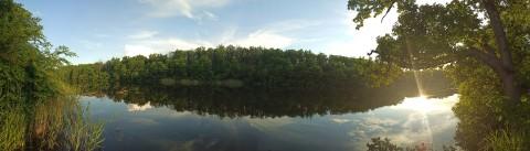 Вечер на озере Попово